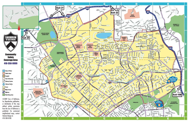Baltimore Shomrim Service Area